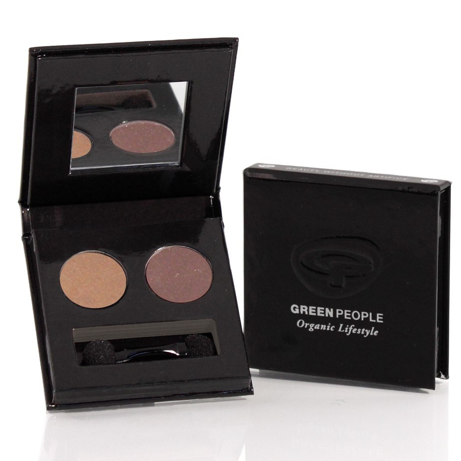 Green People Night Forest Eco Eye Duo (Tawny Owl/Mink Brown)