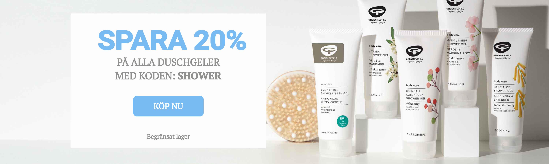 20% på Shower Gels SE